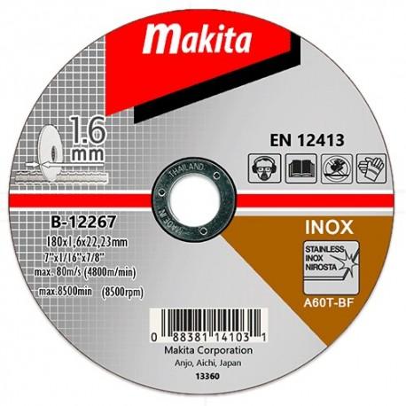 B-12267 Tenký kotúč 180x1.6x22 1ks nehrdzavejúca oceľ Makita
