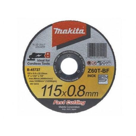 B-45727 Tenký kotúč 115x0.8x22 1ks nehrdzavejúca oceľ Makita