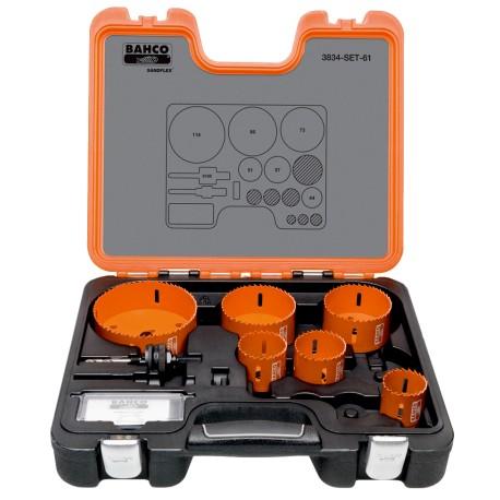 3834-SET-61 Sada dierovacích píl Sandflex® pre inštalatérov Bahco